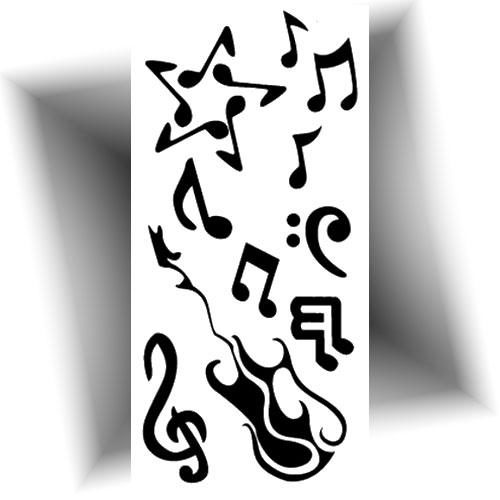 Mini tatouage temporaire note musique