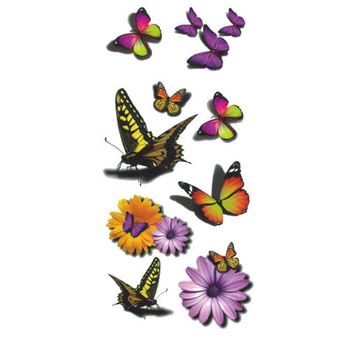 Tatouage temporaire papillon jaune