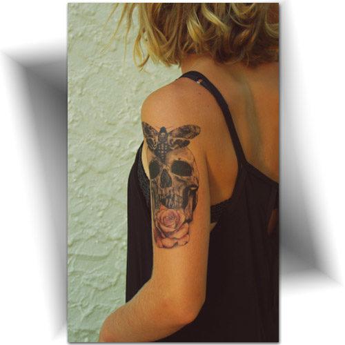 Tatouage éphémère gothique