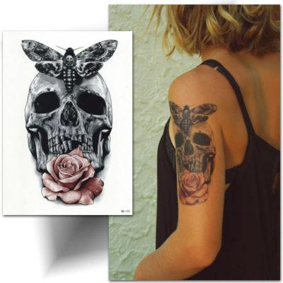 Tatouage temporaire skull,