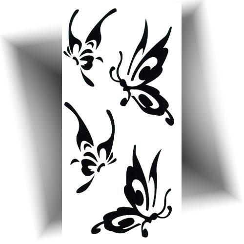 Mini tatouage temporaire papillon