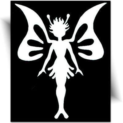 Pochoir adhésif elfe tatouage temporaire