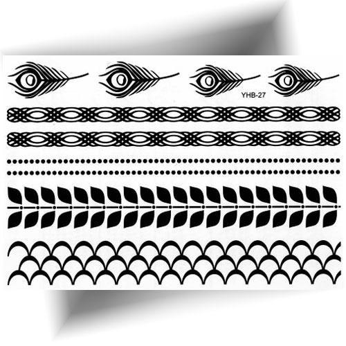 Tatouage éphémère plume noire