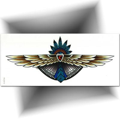 Tatouage plume, grand format pour le dos ou la poitrine
