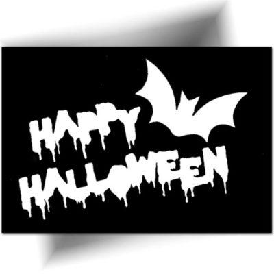 Pochoir pour animation tatouage paillette sur le thème d'Halloween