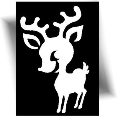 Pochoir adhésif pour réaliser de jolis tatouages éphémères sur le thème de noël ~ Colle cosmétique et paillette ~ Mini prix ~ Nombreux modèles