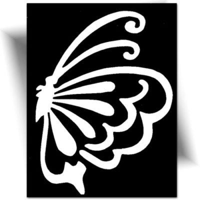 Pochoir adhésif papillon pour réaliser de très jolis tatouages éphémères