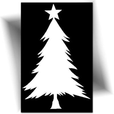 Pochoir adhésif sapin de Noël tatouage éphémère