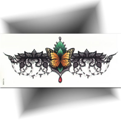 Tatouage provisoire underboobs papillon