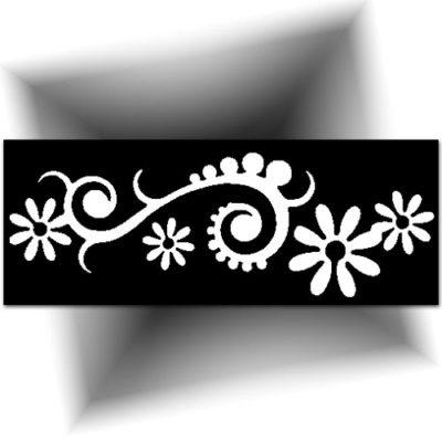 Pochoir adhésif pour réaliser des tatouages paillettes