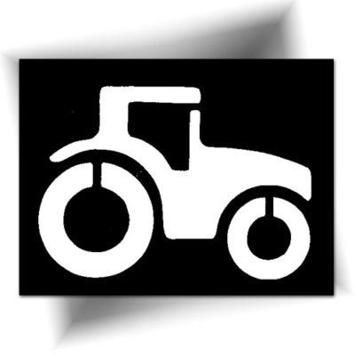 Pochoir adhésif tracteur tatouage temporaire