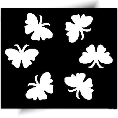 Pochoir adhésif pour réaliser de très jolis tatouages éphémères ~ Prix mini ~ Nombreux modèles de pochoirs ~ Paillettes corps et colle cosmétique