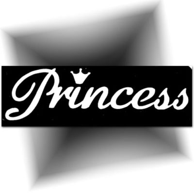 Pochoir adhésif princesse
