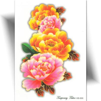 Tatouage éphémère fleur jaune