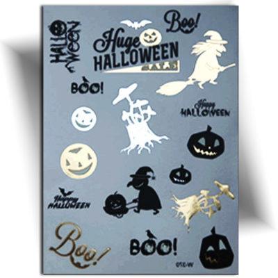 Tatouage temporaire métallique doré sur le thème d 'Halloween