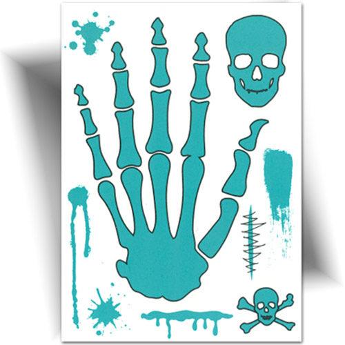 Tatouage phosphorescent, ce tatouage temporaire a la particularité de briller dans le noir