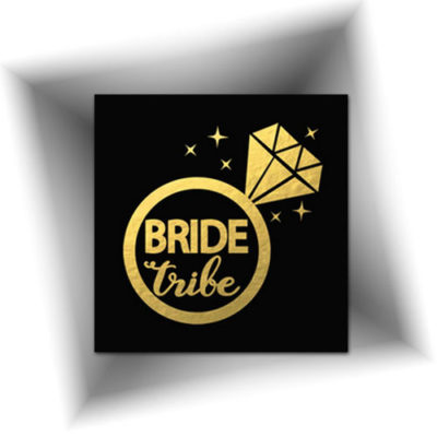 Joli tatouage pour l'enterrement de vie de jeune fille de la mariée ~ Longue tenue ~ Découvrez nos autres tatouages métalliques dorés ~ Animation mariage