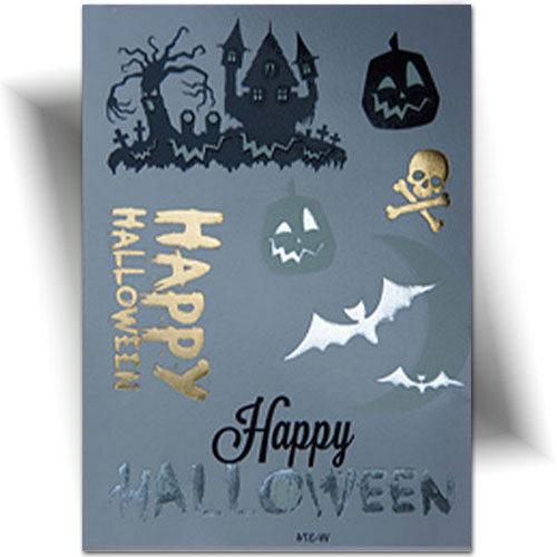 Tatouage phosphorescent happy Halloween