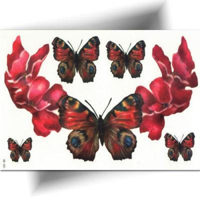 Tatouage grand format, motif papillon, longue tenue, ultra réaliste