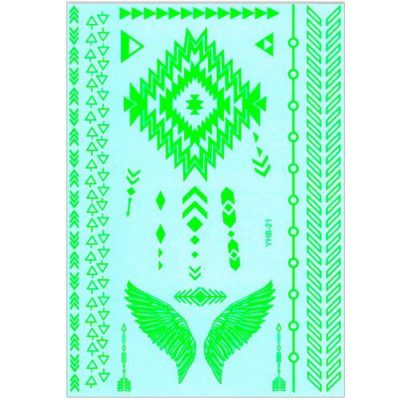 Tatouage temporaire fluorescent vert