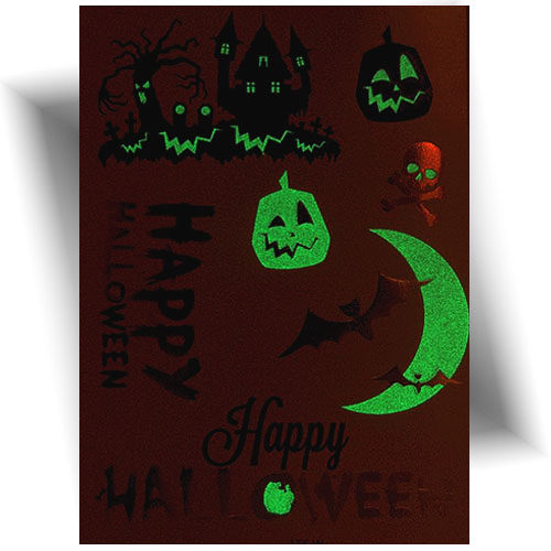 Tatouage temporaire phosphorescent Halloween
