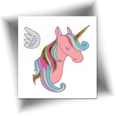 Mini tatouage licorne féerique