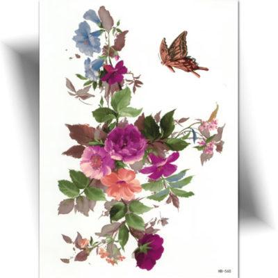 Tatouage éphémère jolies fleurs