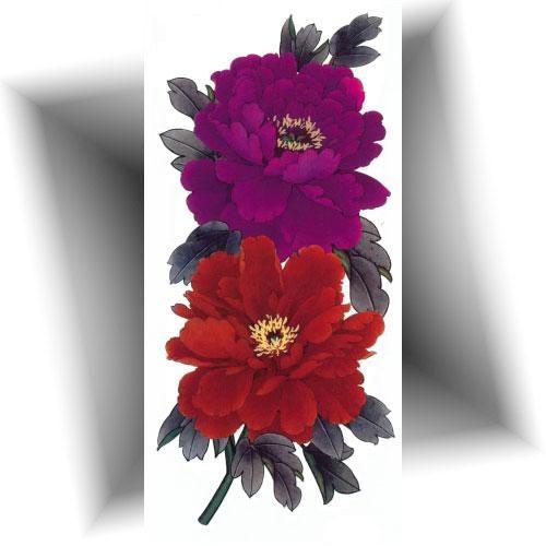 Tatouage-éphémère-double-fleurs