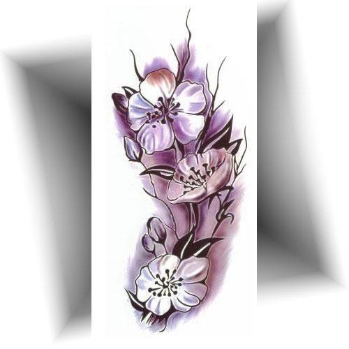 Tatouage-éphémère-orchidée