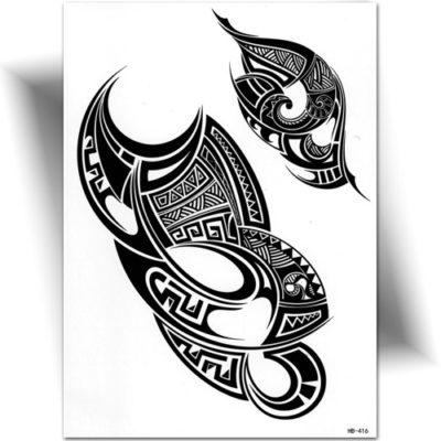 Tatouage provisoire Polynésien