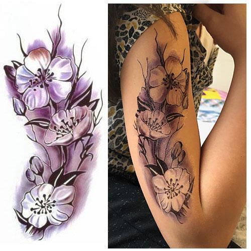 Tattoo-éphémère-orchidée
