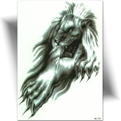 Tatouage wild lion