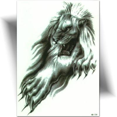 Tatouage wild lion