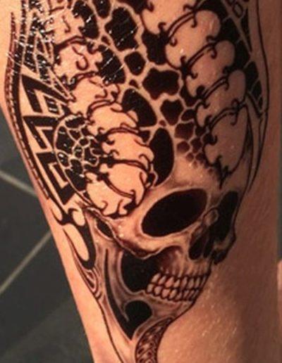 Tatouage éphémère skull, Mikiti