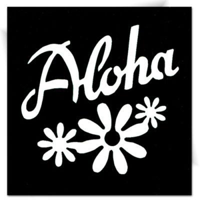 Pochoir adhésif Hawaï