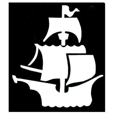 Pochoir bateau pirate
