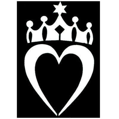 Pochoir adhésif roi des cœurs