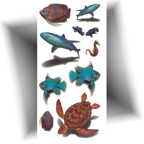 Tatouage animaux marins 3D