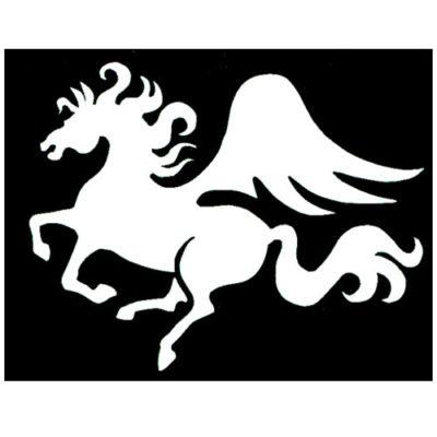 Pochoir adhésif cheval ailé