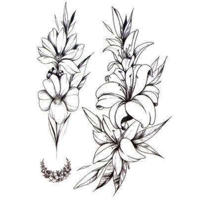 Tatouage temporaire fleur de Lys