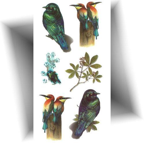 Tatouage-temporaire-3D-oiseaux