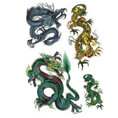 Tatouage temporaire dragon paillette
