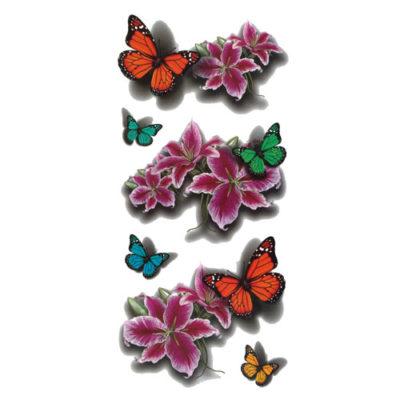 Tatouage-temporaire-papillons-3D