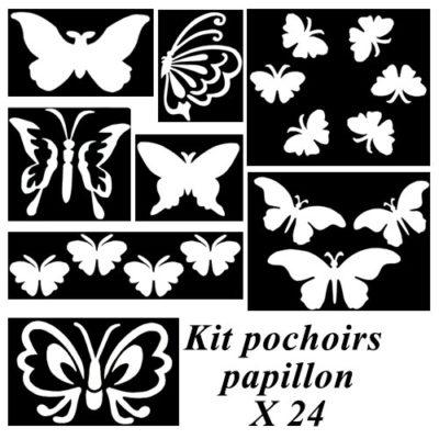 Kit pochoir adhésif papillon