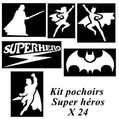 Kit pochoirs super héros