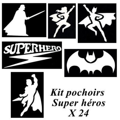 Kit pochoirs super héros