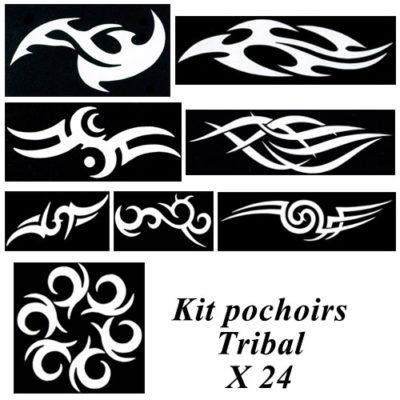 Kit pochoirs tribal