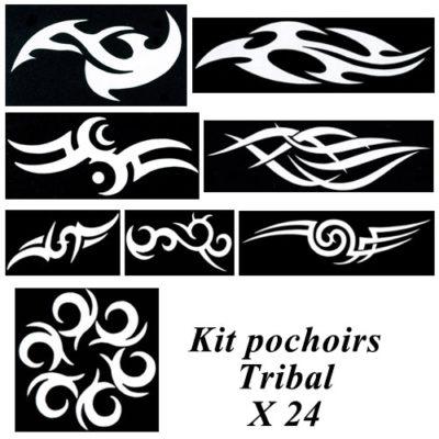 Kit pochoirs tribal