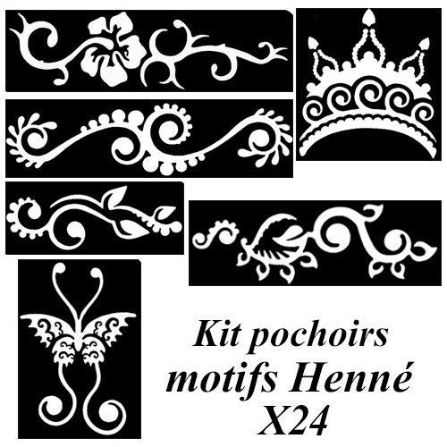 Kit pochoirs motifs henné