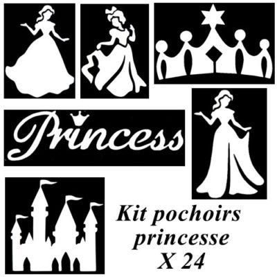 Kit pochoirs adhésifs princesse